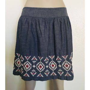 American Eagle Outfitters Embroidered Skirt